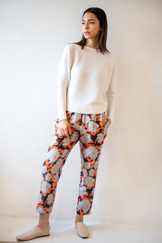 PERUN pull on pant, poppy