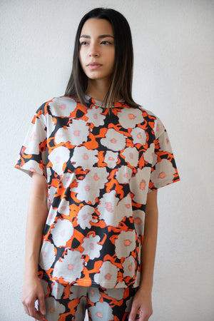 Christian Wijnants - TEYLA cotton tee, poppy