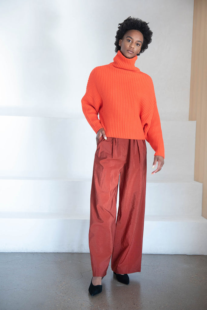 Christian Wijnants - pamod wide leg trouser, rust