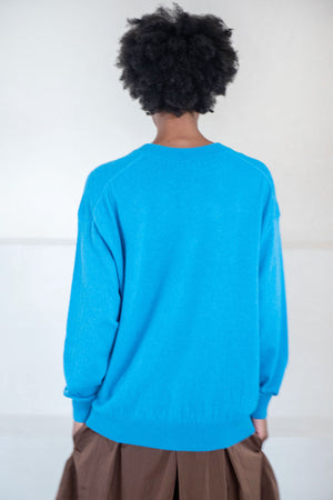 Christian Wijnants - khage v-neck sweater, blue