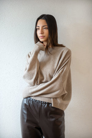 chunky sweater, brown