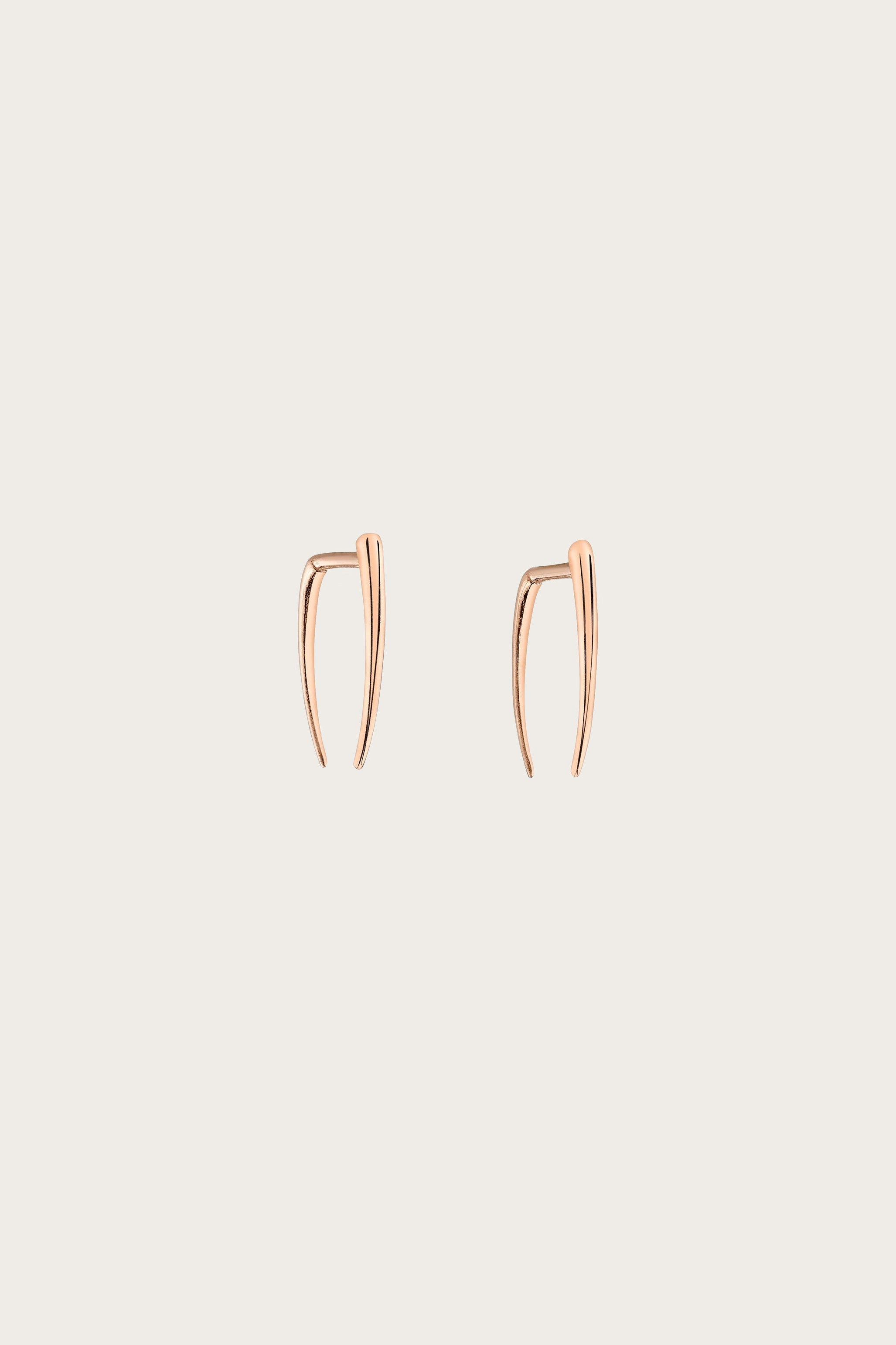 Classic Infinite Tusk Earrings, Rose Gold - Gabriela Artigas