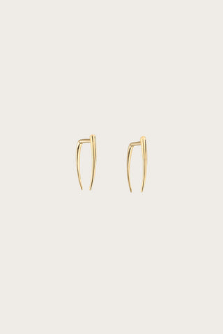 Classic Infinite Tusk Earring, Yellow Gold