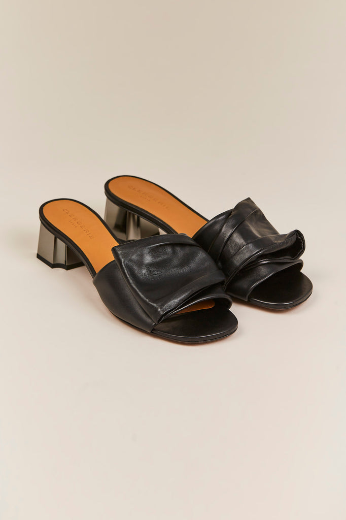 Lendy Low Heel Slide, Black