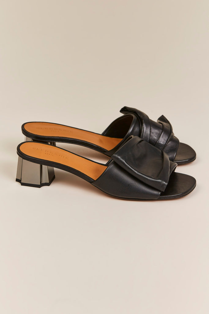 Robert Clergerie - Lendy Low Heel Slide, Black