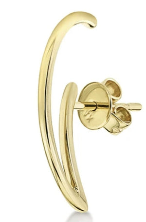 Gabriela Artigas - colmillo earring, gold