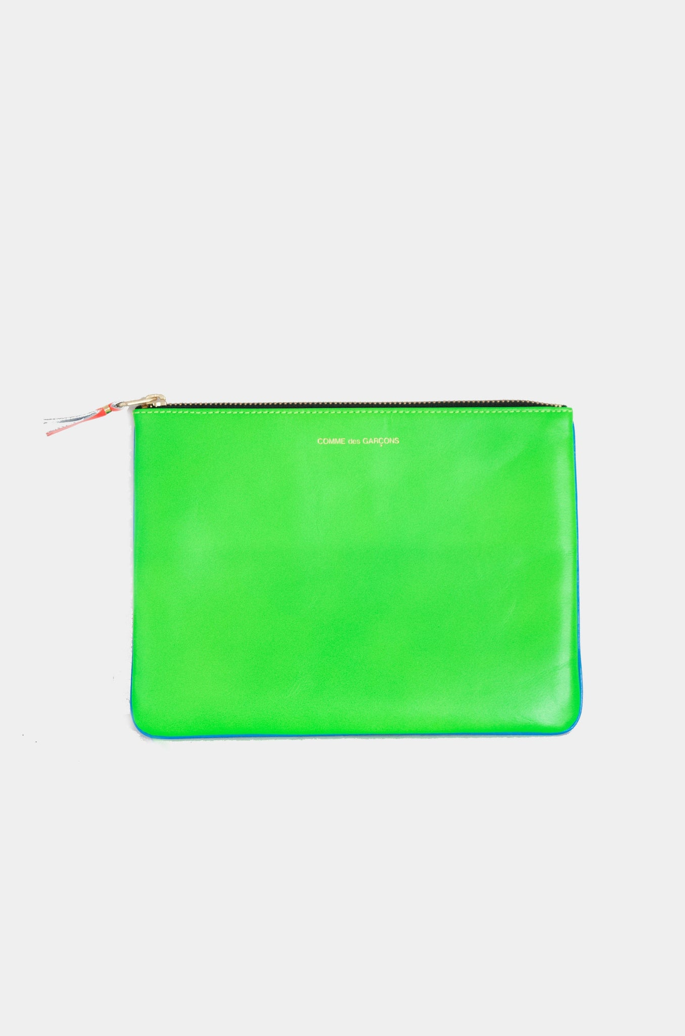 super fluo large pouch, blue and green