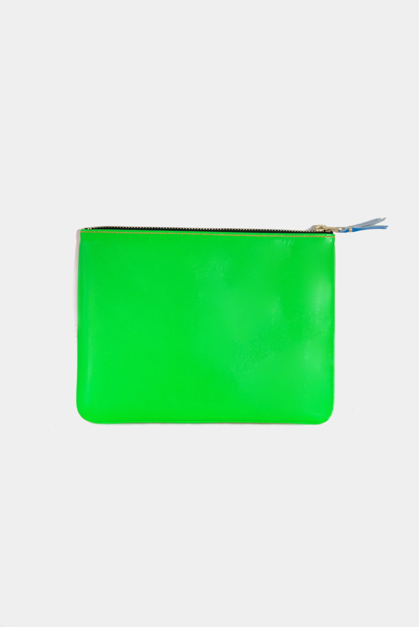 super fluo large pouch, green and orange