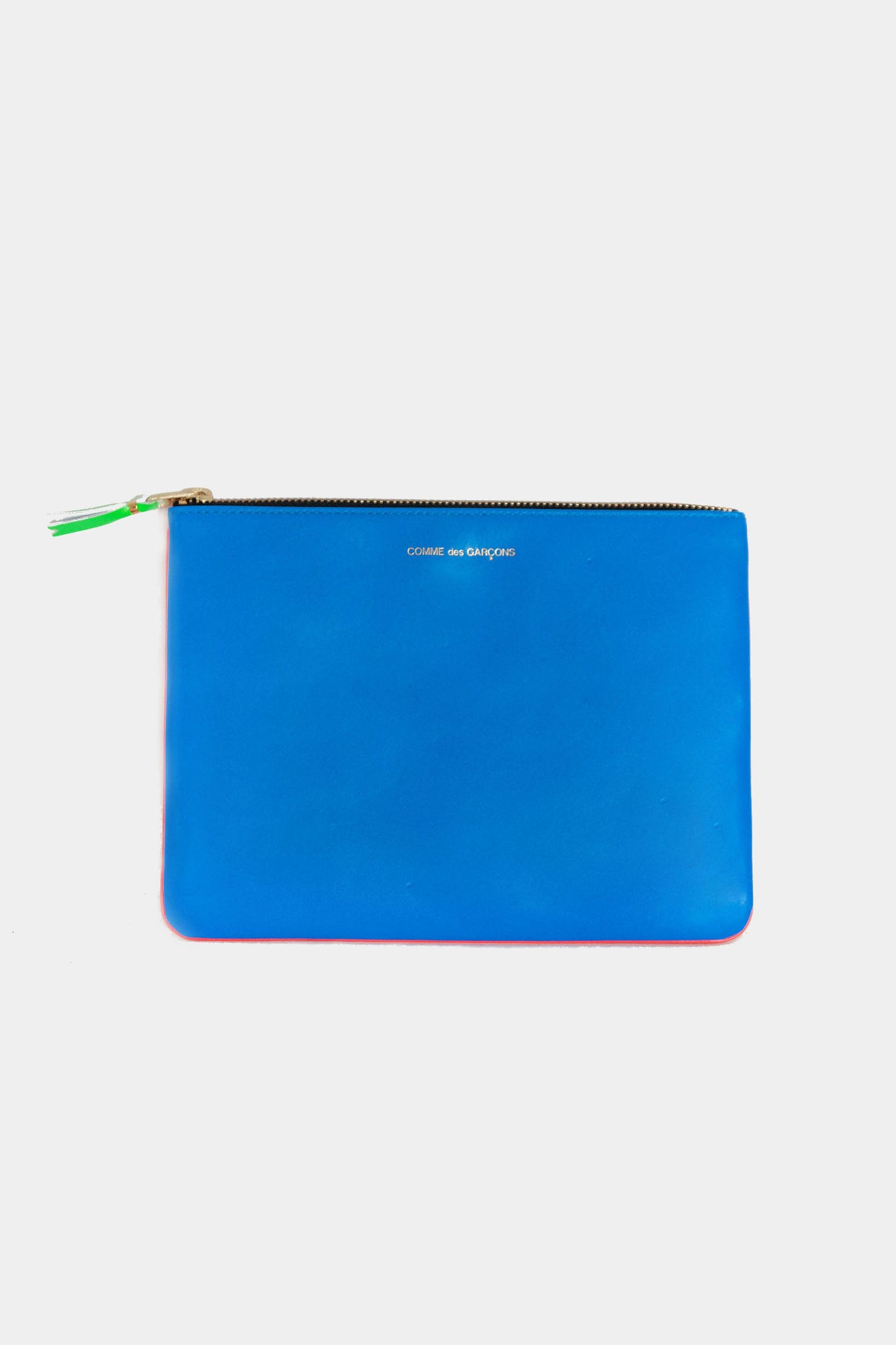 super fluo large pouch, orange and blue