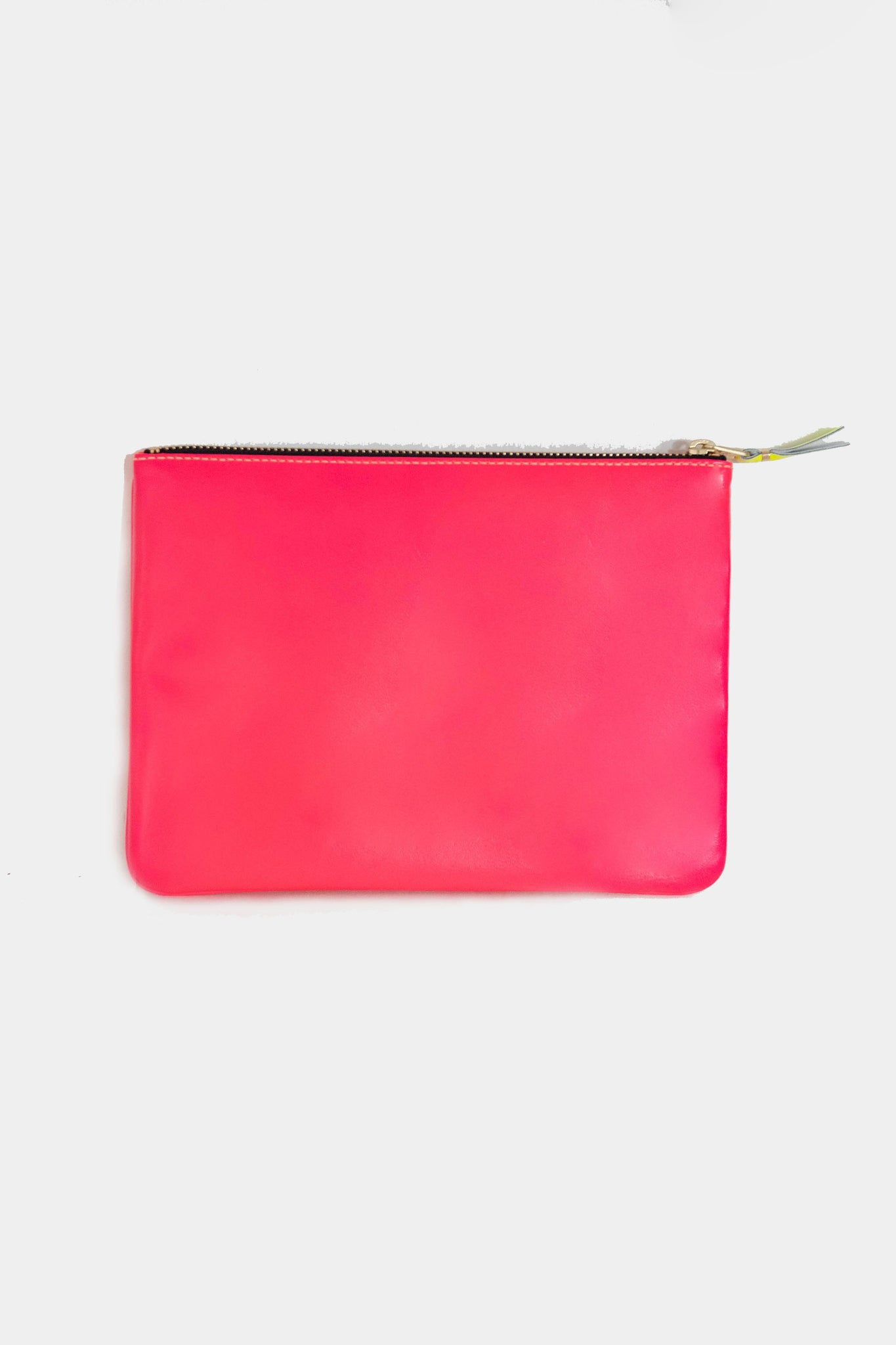 super fluo large pouch, orange and pink