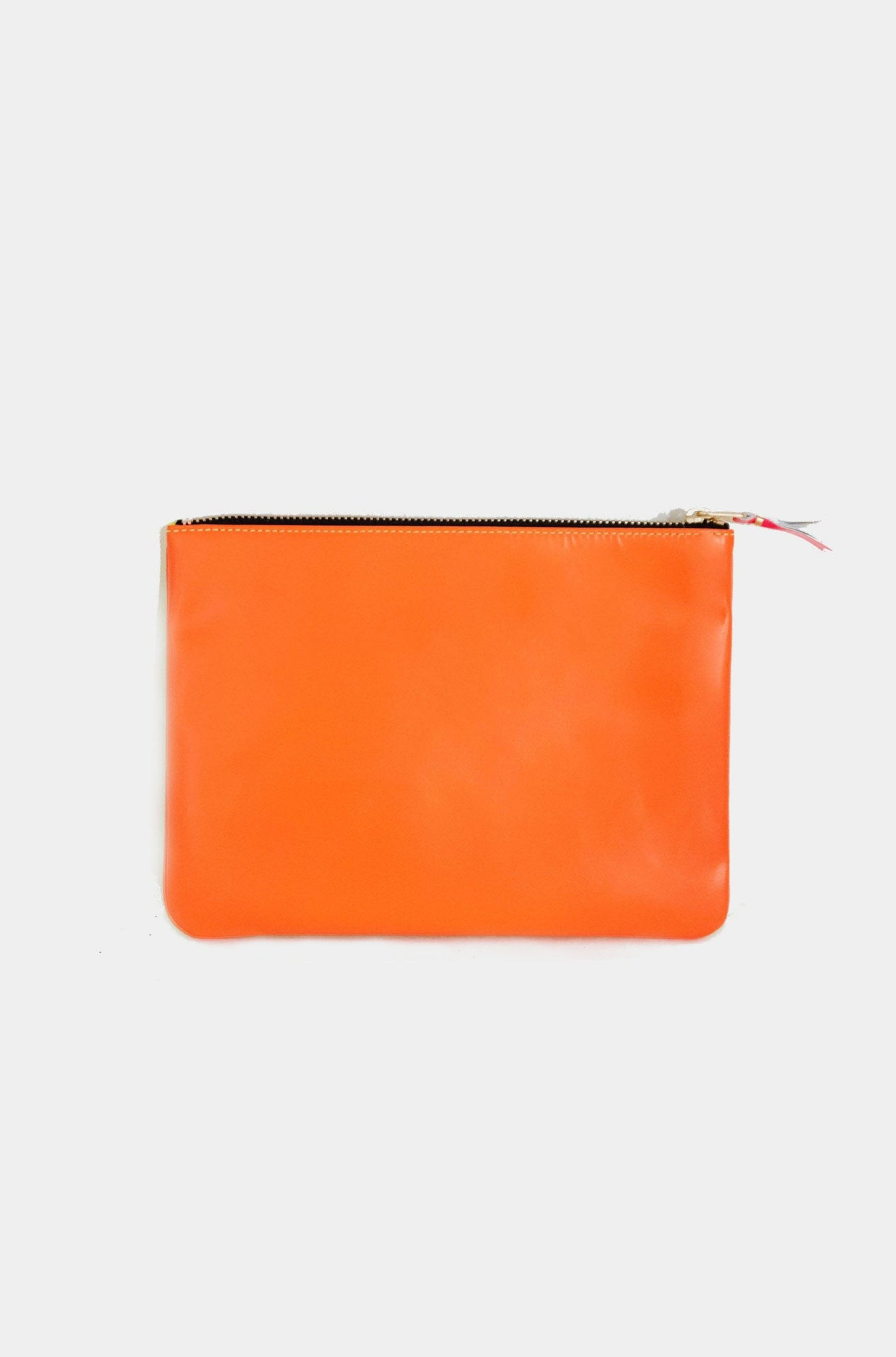 super fluo large pouch, yellow and orange