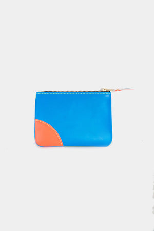 super fluo pouch, blue and green