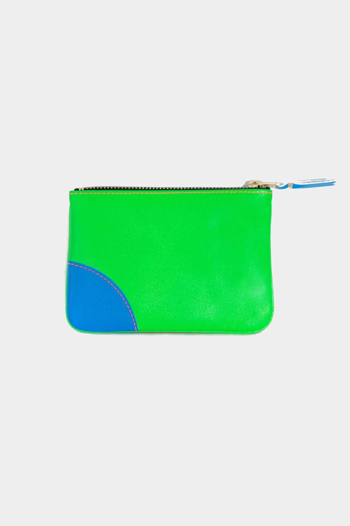 super fluo pouch, green and orange