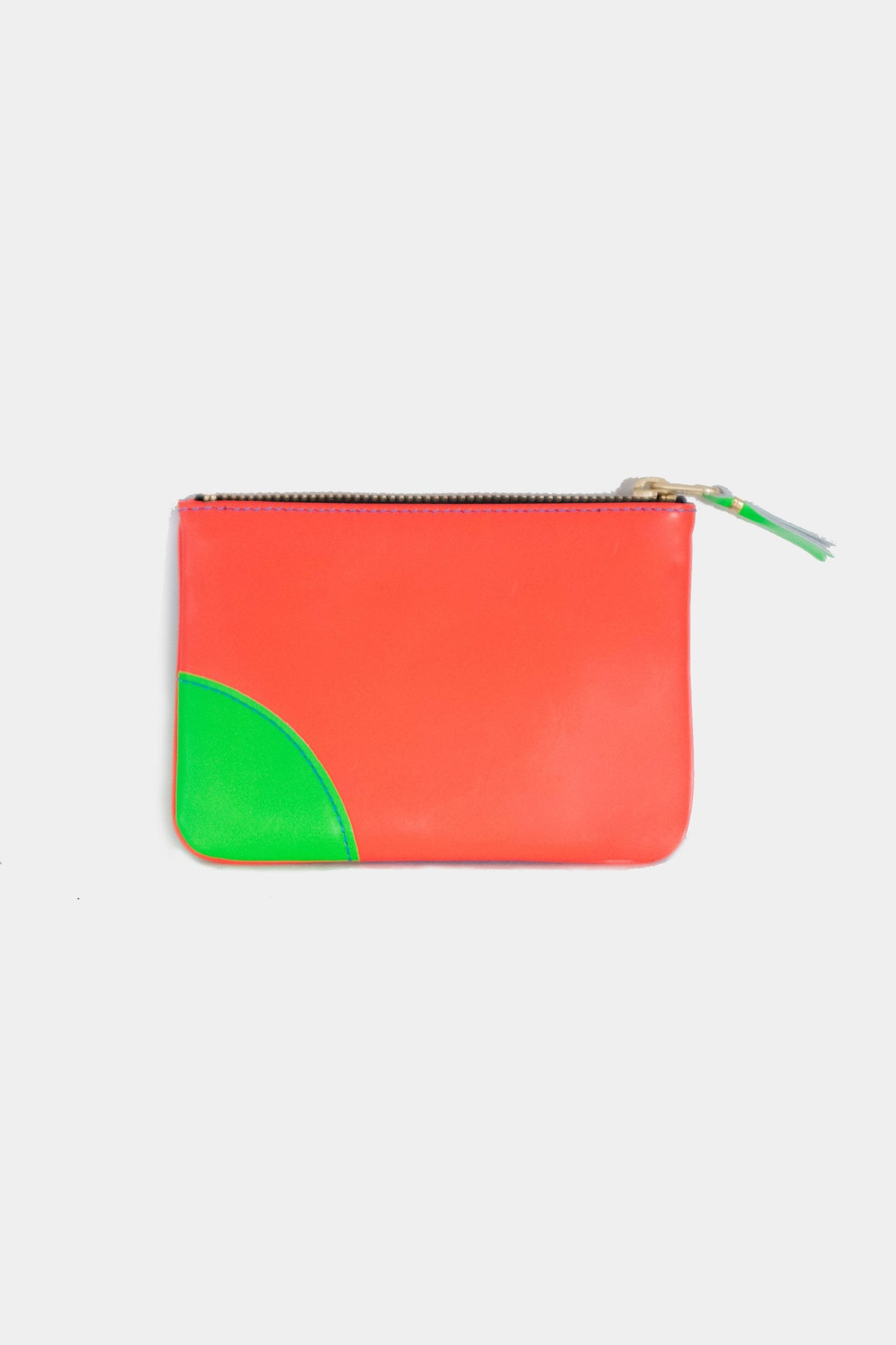 super fluo pouch, orange and blue