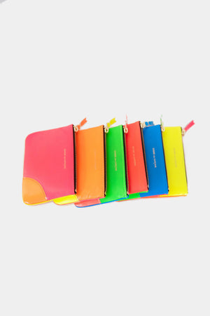 super fluo pouch , pink and yellow