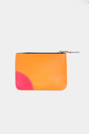 super fluo pouch, yellow and orange