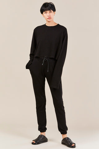 Aspen Elastic Sweatpants, Jet Black