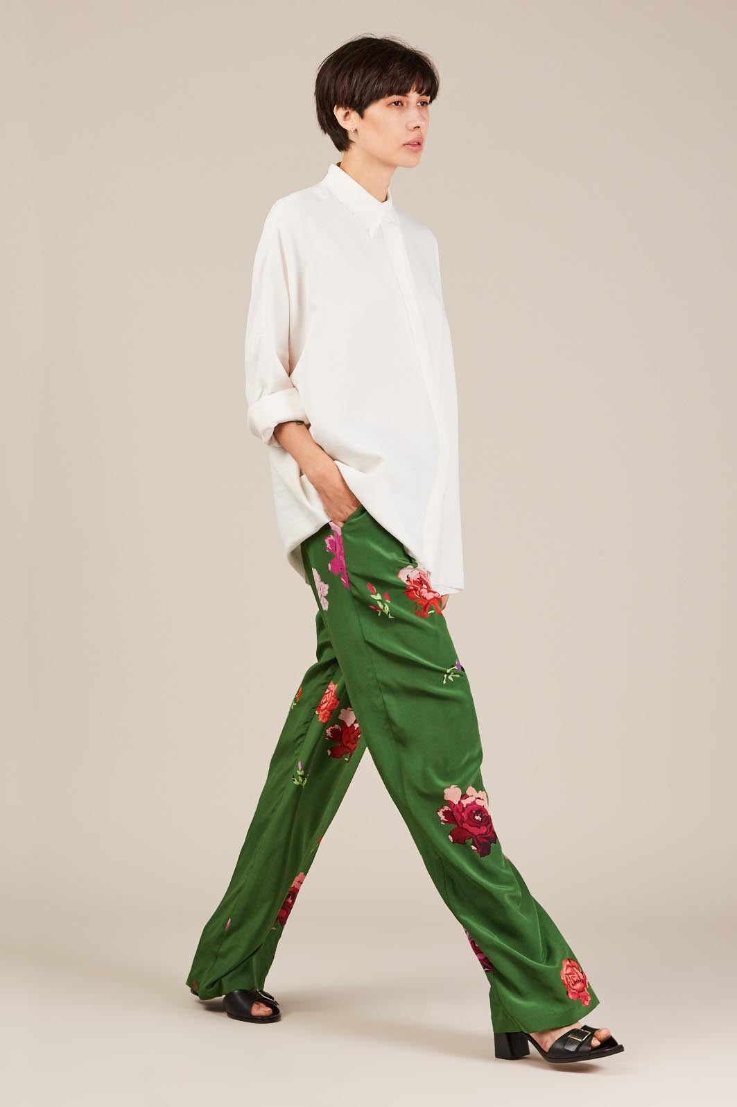Harriett Floral Trouser, Green by Creatures of Comfort
