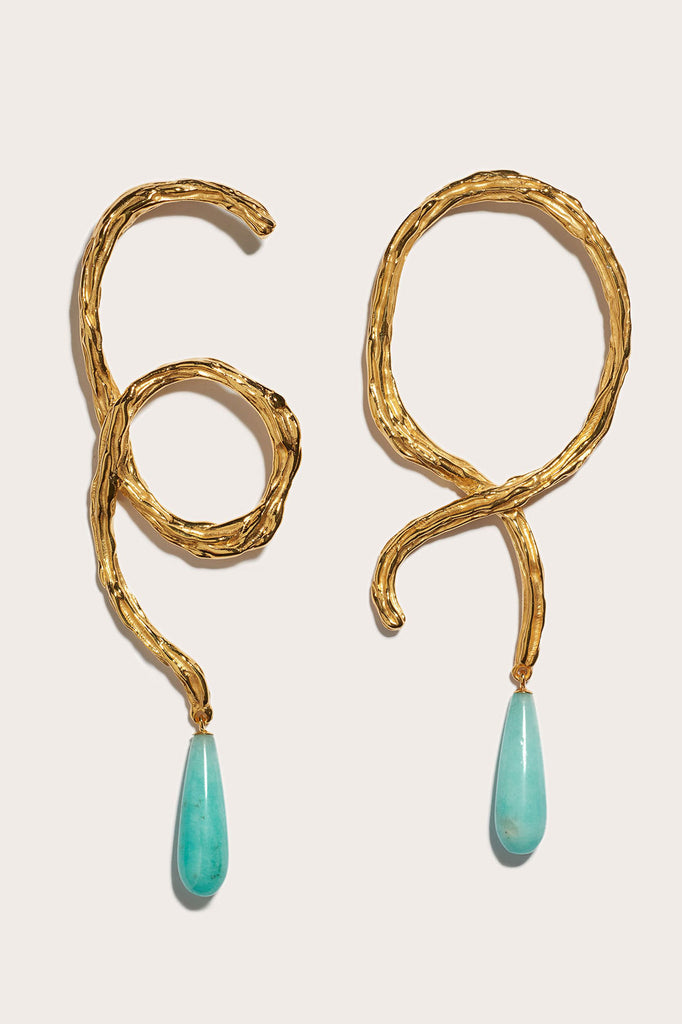 Lizzie Fortunato - Cursive Earrings, Gold