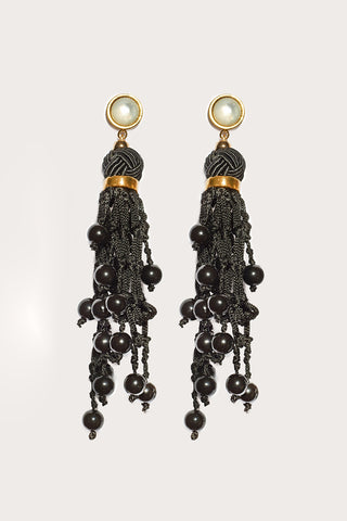 Dance Hall Earrings, Black