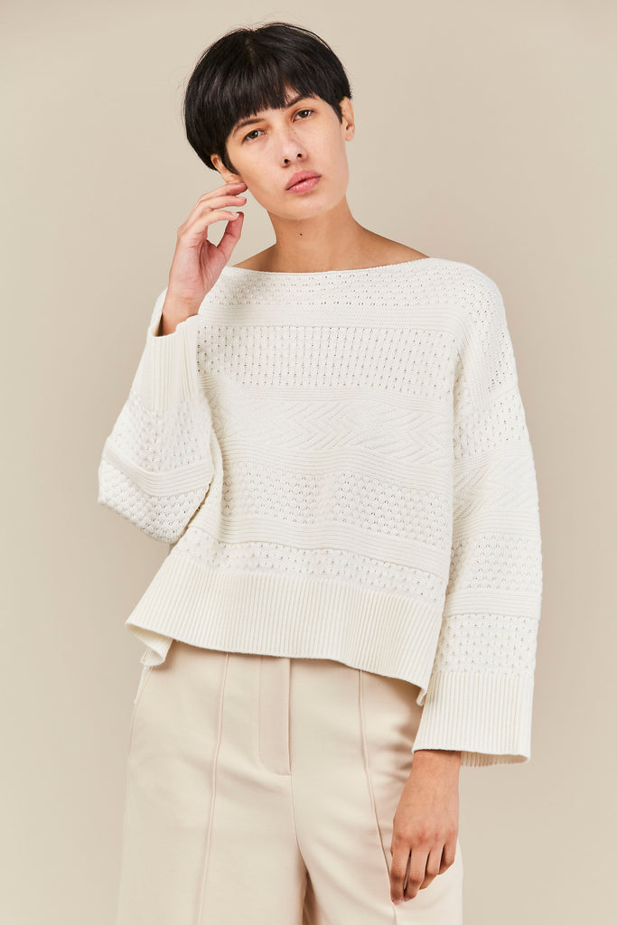 Demylee - Albany sweater, White