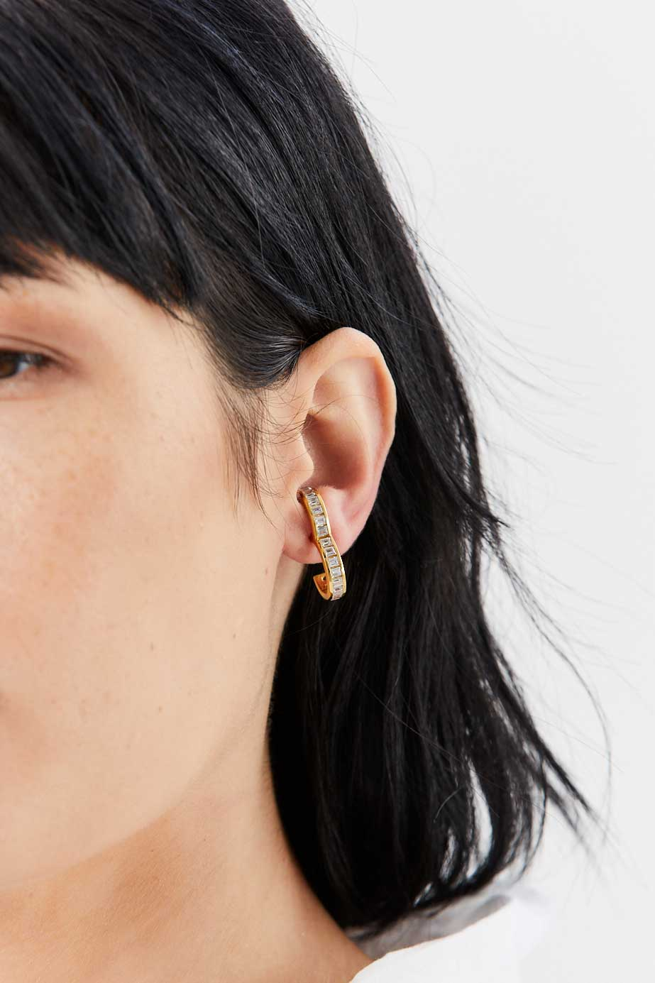 ALAN CROCETTI - Encrusted Rodeo Earring, Gold