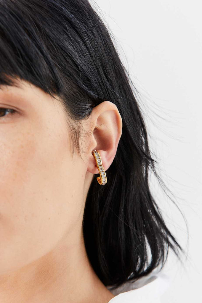 Encrusted Rodeo Earring, Gold