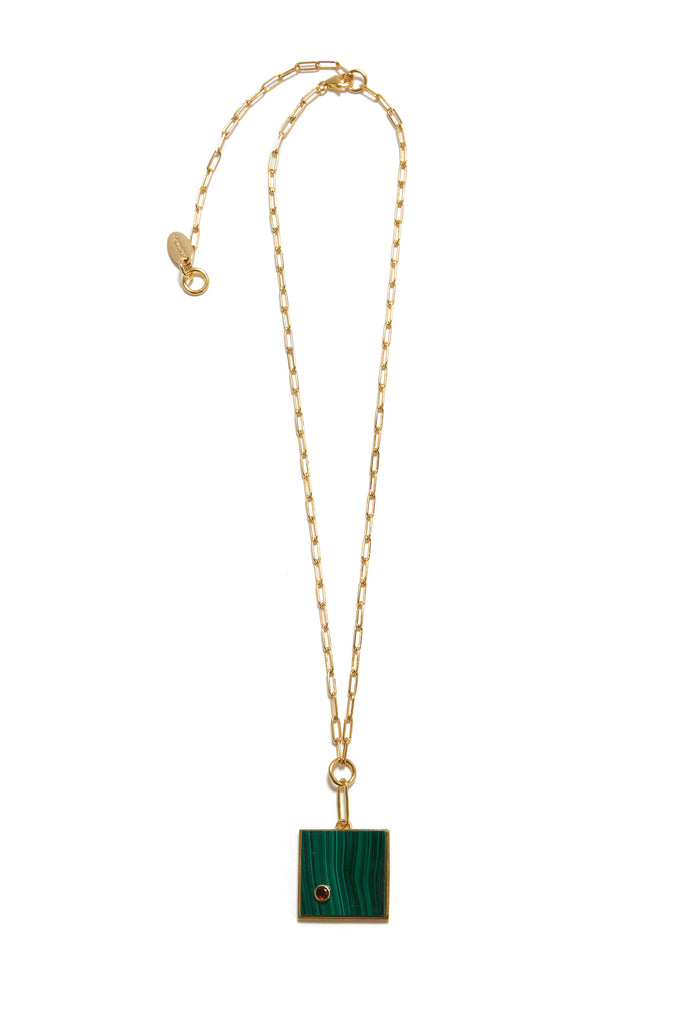 Lizzie Fortunato - Domino Necklace in Malachite
