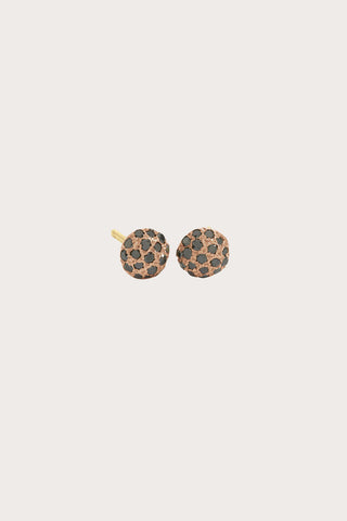 Dot Earrings, Rose Gold