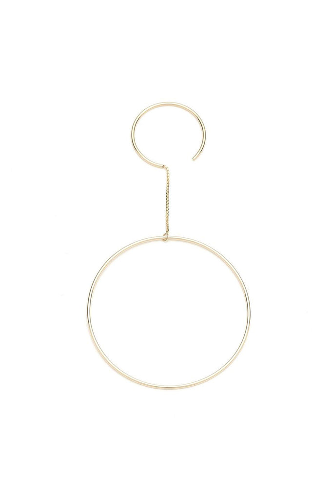 Double Hoop Earring, Gold