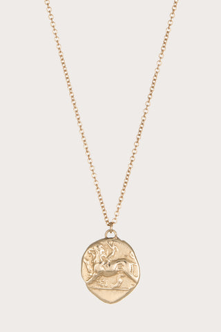 Chimera & Dove Gold Pendant