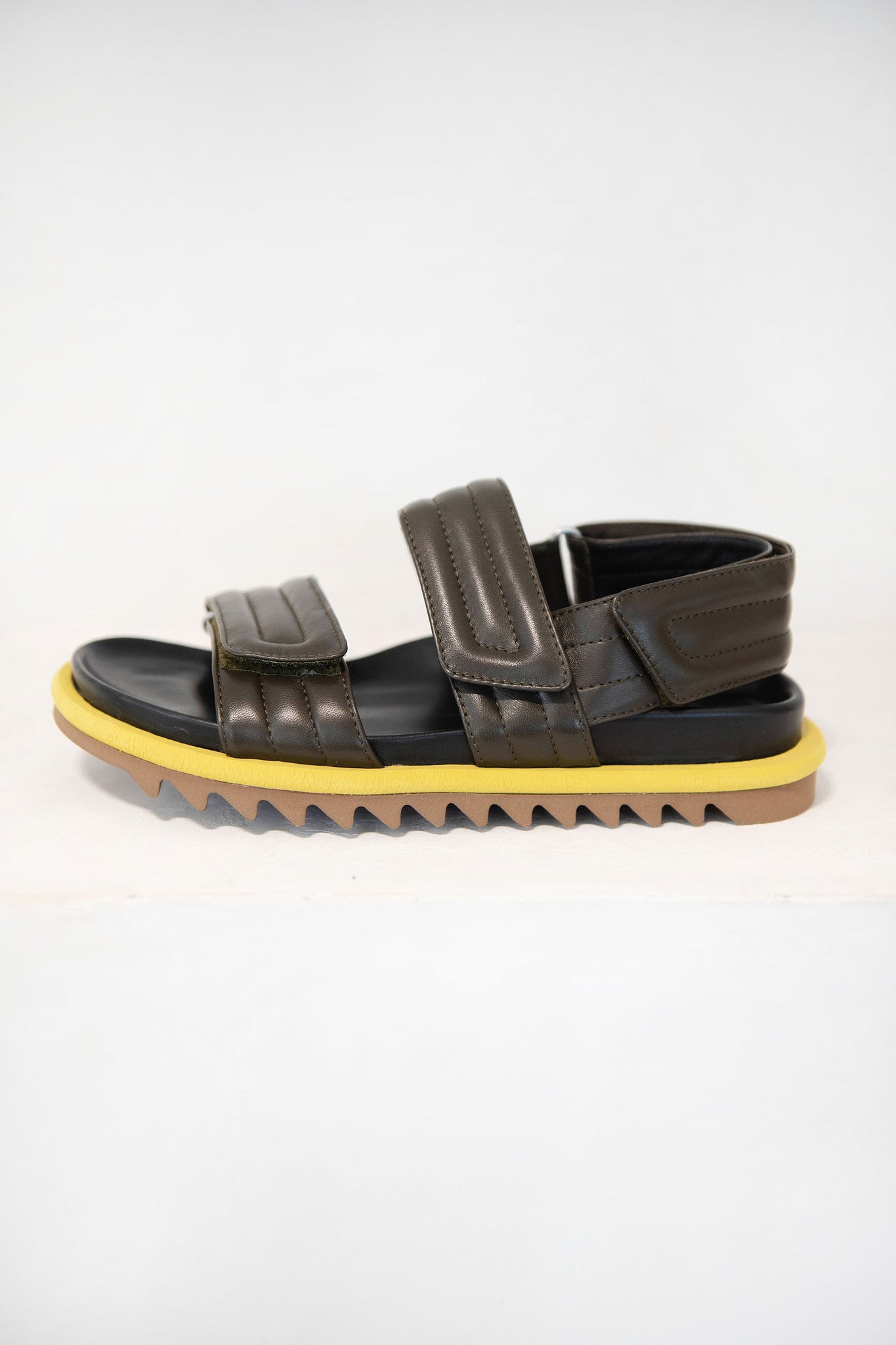 DRIES VAN NOTEN - velcro sandal, olive