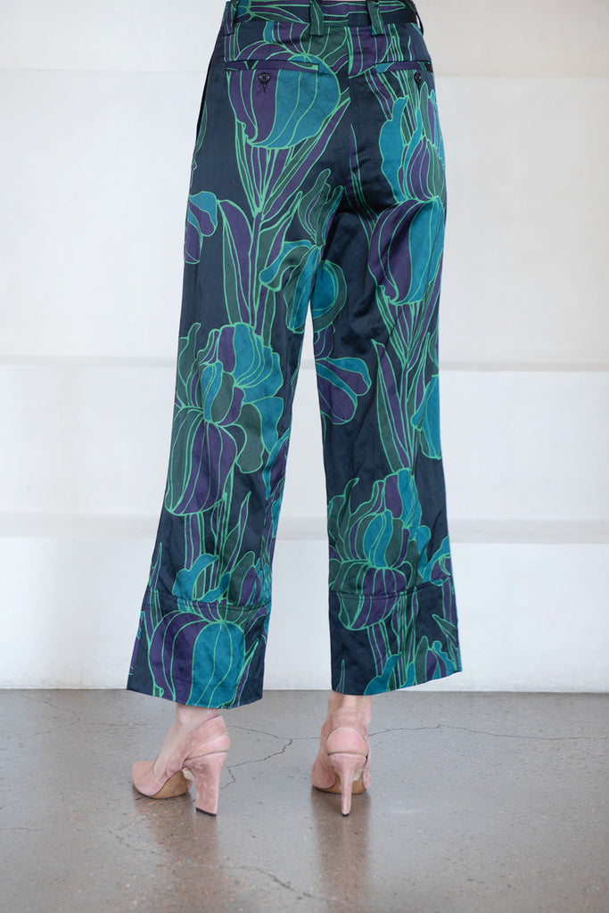DRIES VAN NOTEN - PAROVAL pant, black floral