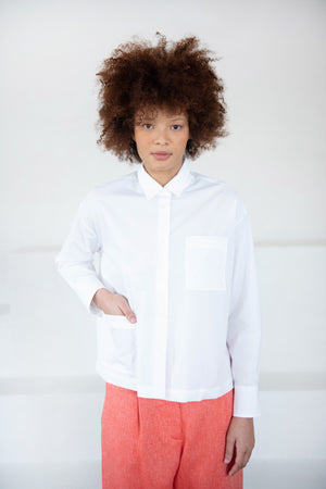 Hache - work blouse, white