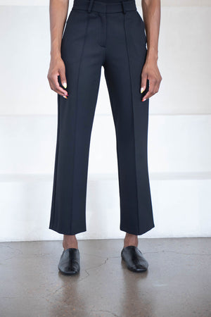 Dušan - J40 straight leg pants, black