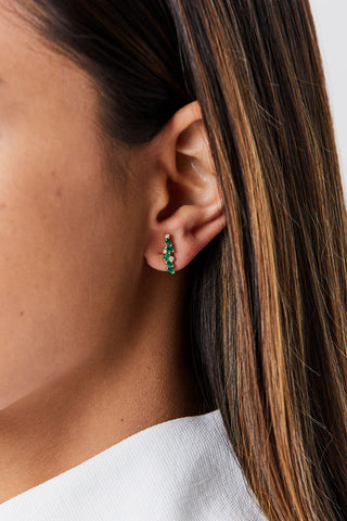 Emerald Firework Earrings