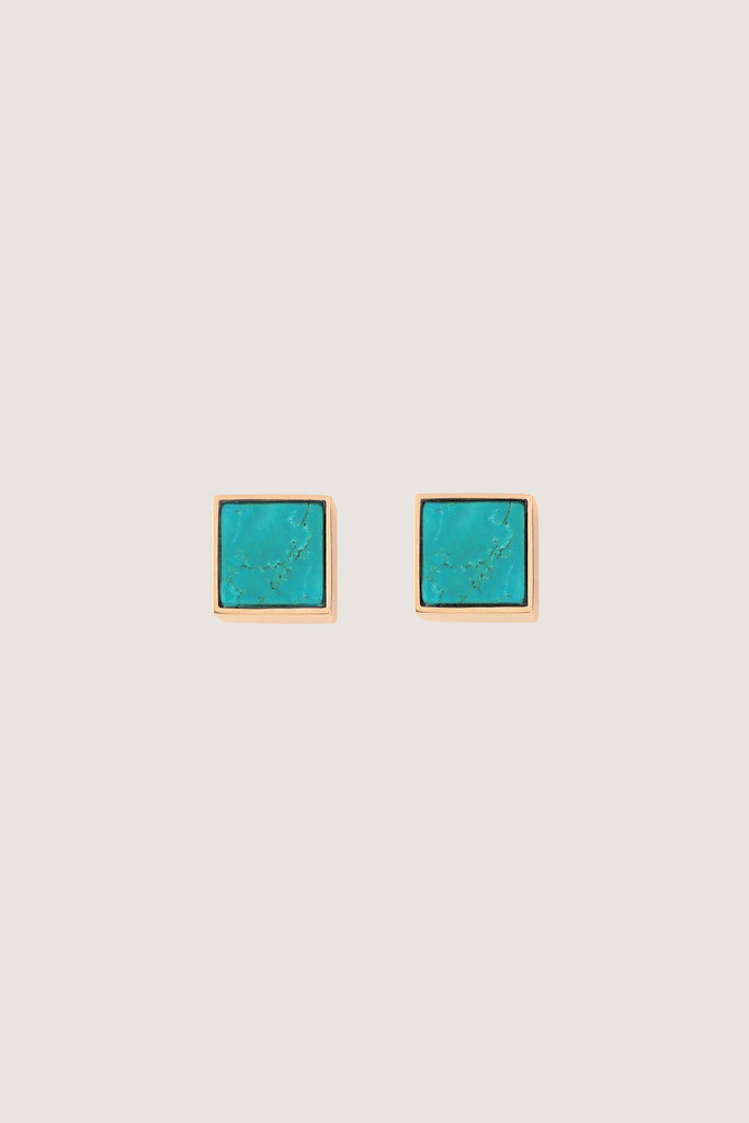Ever Turquoise Square Studs