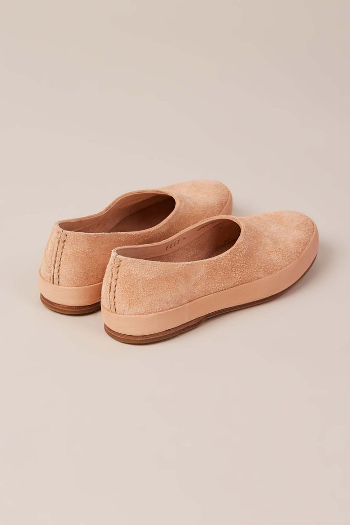 Hand Sewn Ballet Shoes, Natural Suede by Feit