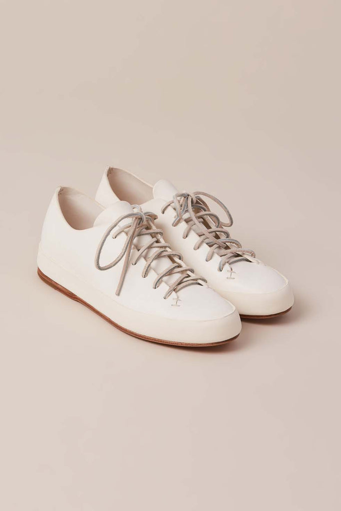 Hand Sewn Low Shoes, White