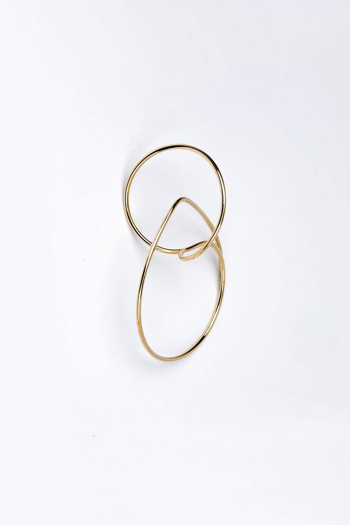 Floating Hoop Earrings, Gold