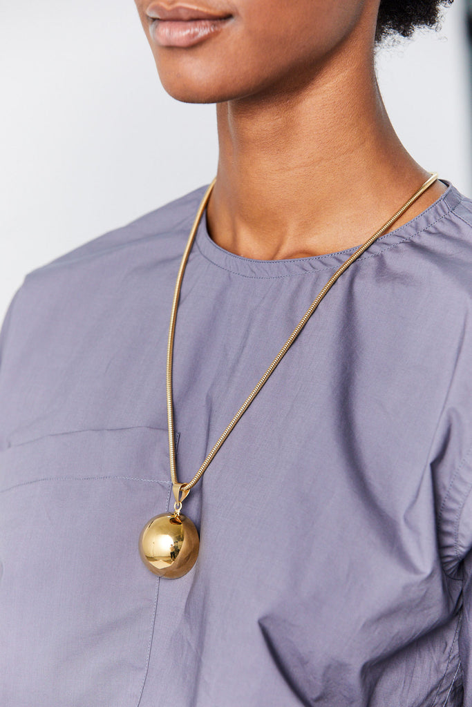 Full Aura Necklace, Gold Plate