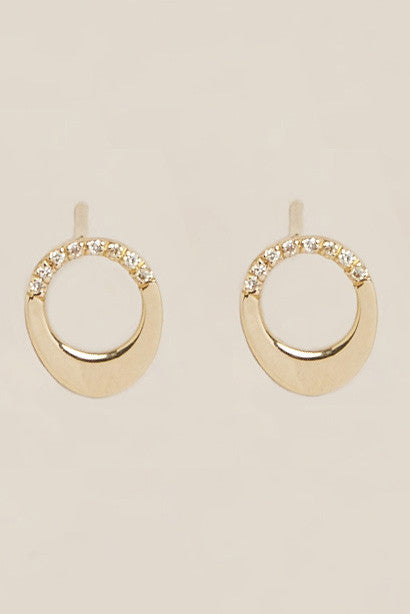 Pave Small Earrings Set by Gabriela Artigas