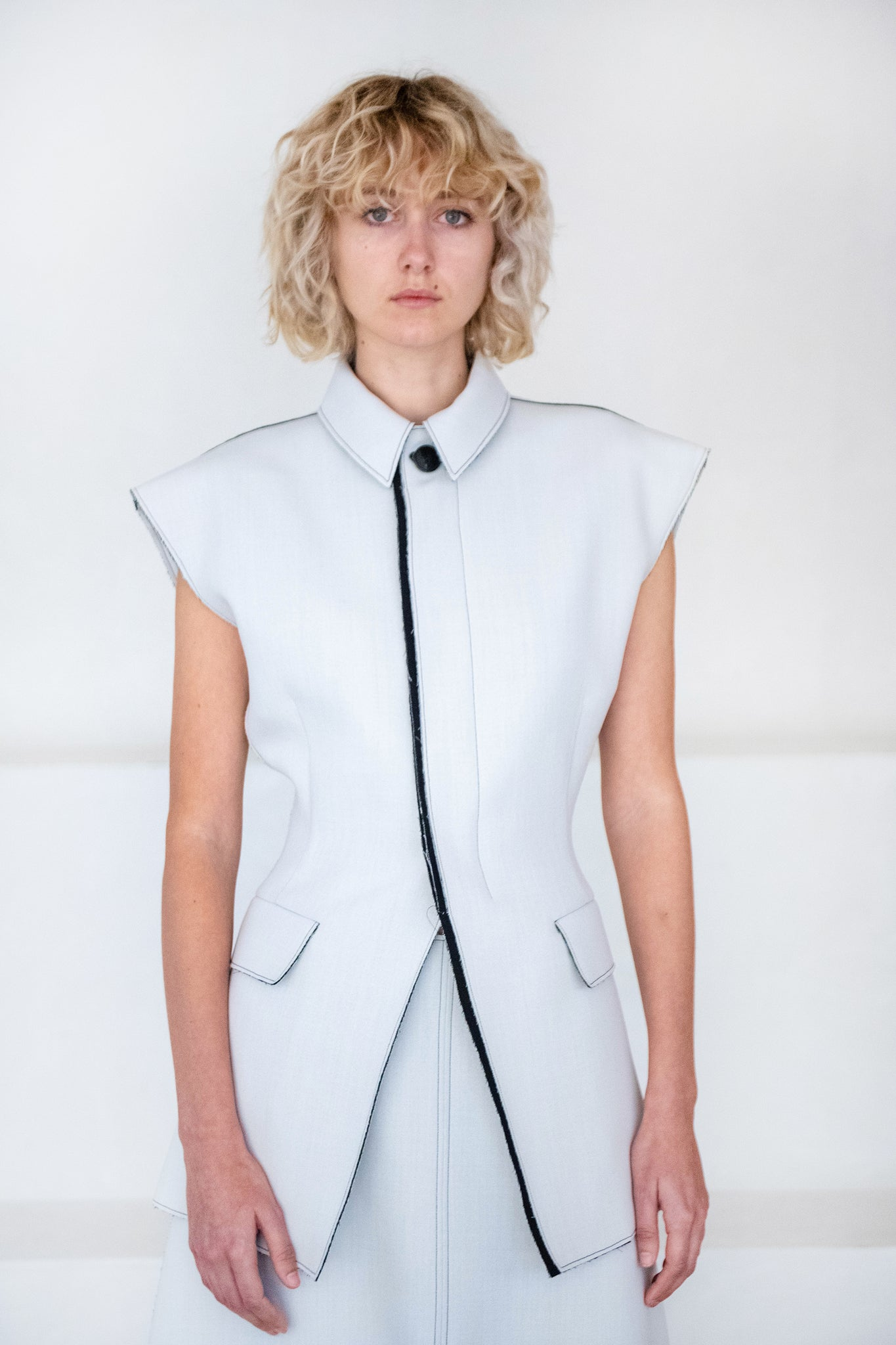 GAUCHERE - sati jacket, black and white