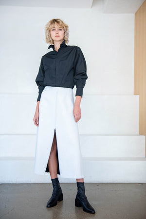 GAUCHERE - solina skirt, black and white
