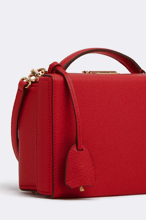 Grace Small Box Bag, Red