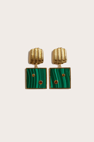 Green Wave Earrings