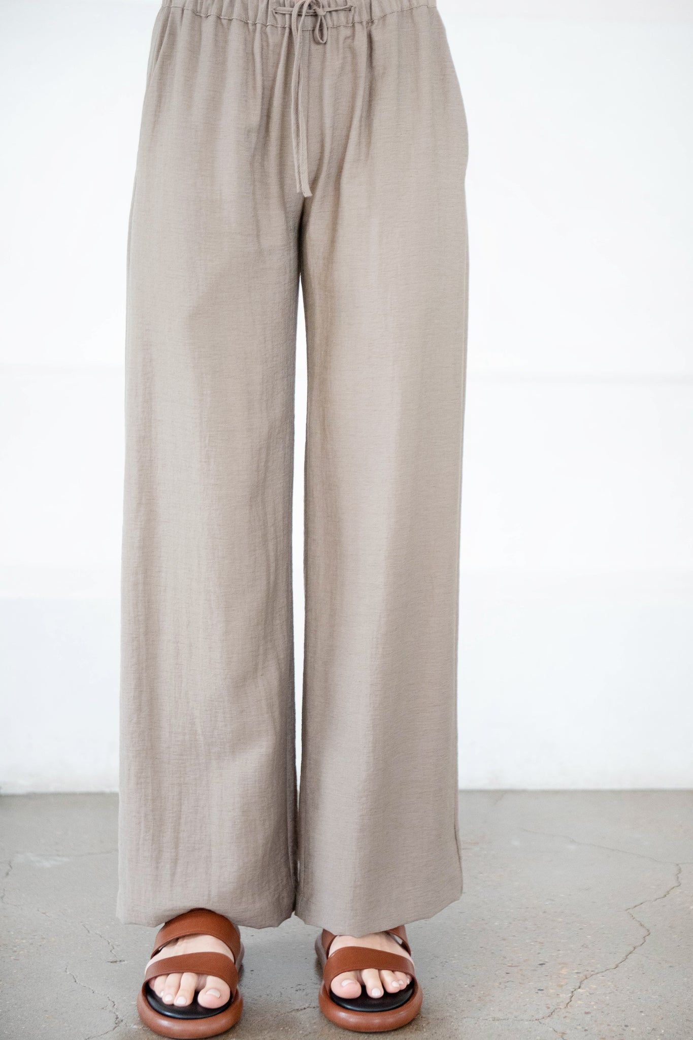 GREI - straight easy pant, caper