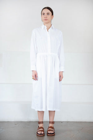 GREI - parachute shirtdress, white