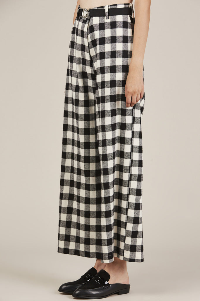 Hache - Checkered Over Pant, Black/White