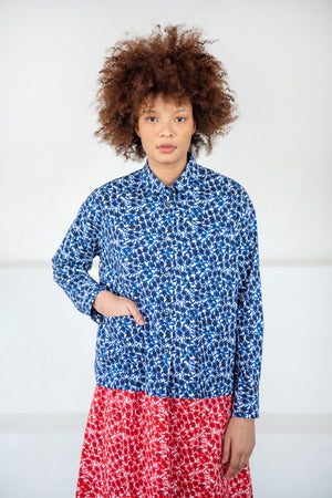 Hache - work blouse, navy